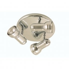 Regency 3 Light Ceiling Spot Fitting In Polished Chrome Finish