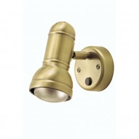 Regency Single Switched Wall Spot Fitting In Antique Brass Finish