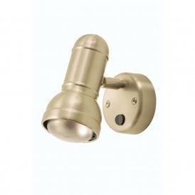 Regency Single Switched Wall Spot Fitting In Antique Chrome Finish