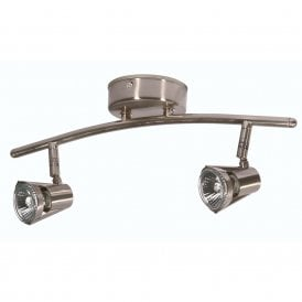 Romore 2 Light Bar Spotlight Fitting In Antique Chrome Finish