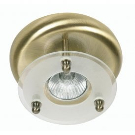 Single Light Surface Mounted Ceiling Spot Fitting In Antique Brass Finish