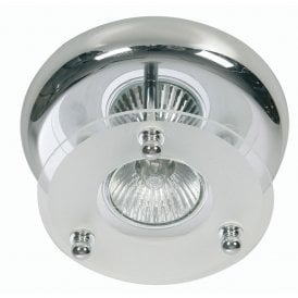 Single Light Surface Mounted Ceiling Spot Fitting In Polished Chrome Finish