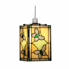 Oaks lighting tiffany cream and red ceiling uplighter shade tiffany cream and green ceiling light pendant shade audiocablefo light Images