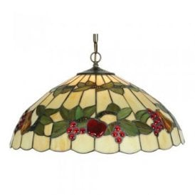 Tiffany Fruit Single Light Large Ceiling Pendant
