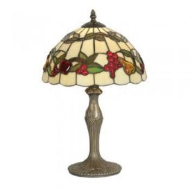 Tiffany Fruit Single Light Small Table Lamp