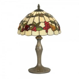 Tiffany Fruit Single Light Table Lamp