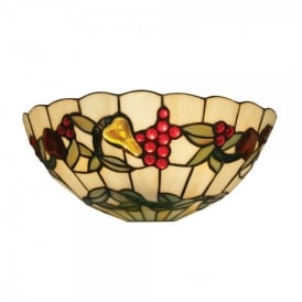 Tiffany Fruit Single Light Wall Lamp