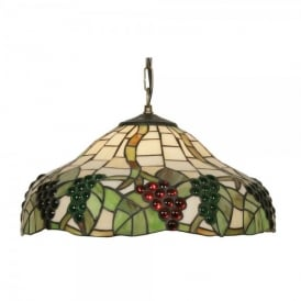 Tiffany Grapes II Single Light Ceiling Pendant