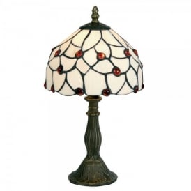 Tiffany Single Light Amber Bead Table Lamp