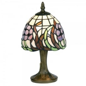 Tiffany Single Light Blue Flower Table Lamp