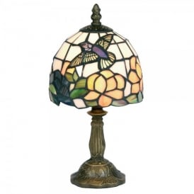 Tiffany Single Light Hummingbird Table Lamp