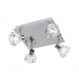 Tona 4 Light Ceiling Spotlight Fitting In Polished Chrome Finish