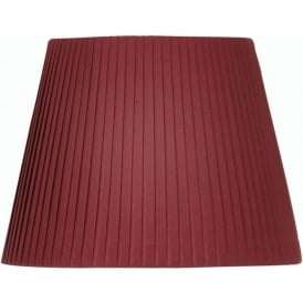 Wine Pleated 14 Inch Tapered Drum Shade