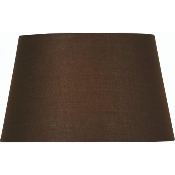 Oaks shades chocolate brown large 20 inch tapered cotton drum shade chocolate brown large 20 inch tapered cotton drum shade aloadofball Gallery