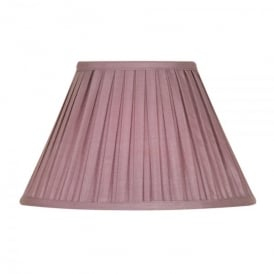 Large 20 Inch Lined Faux Silk Box Pleat Shade in Grape
