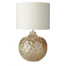 Odyssey Single Light Ceramic Table Lamp Base Only in Biscuit Finish