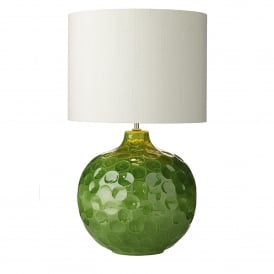 Odyssey Single Light Ceramic Table Lamp Base Only in Green Finish
