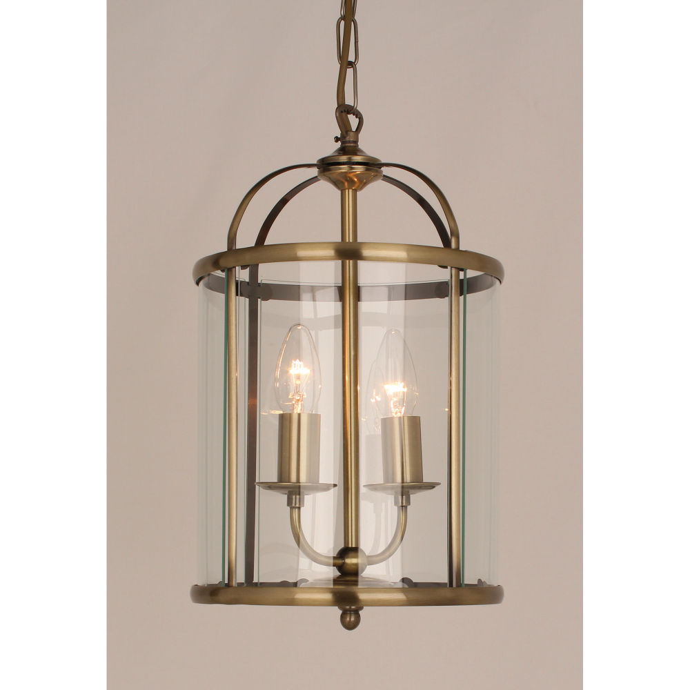 David Dangerous Entrance Hall Victorian House: Impex Lighting Orly 2 Light Ceiling Lantern In Antique