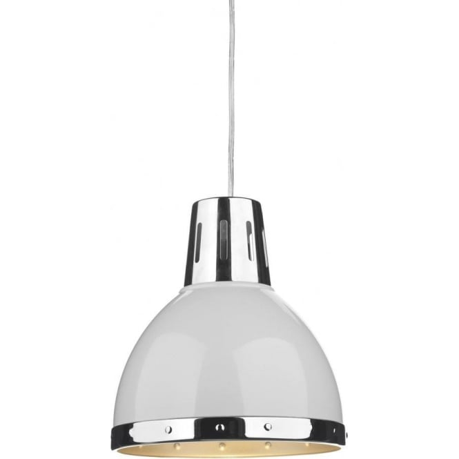 Dar Lighting Osaka Ceiling Light Pendant Shade in a White Finish