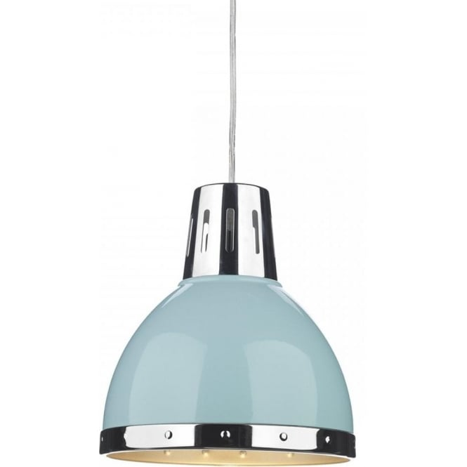 Dar Lighting Osaka Non Electric Pendant Shade in a Blue Finish