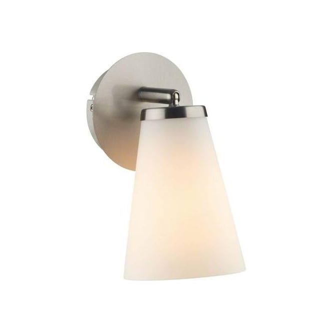 Dar Lighting Osbourne Single Light Switched Wall Fitting In Satin Chrome