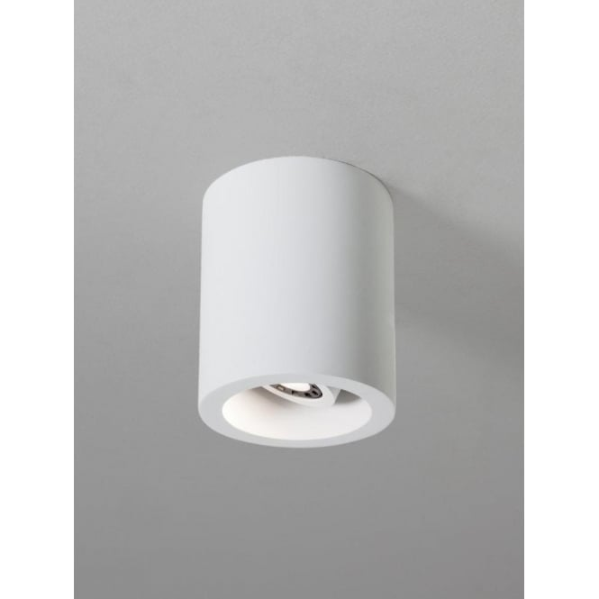 Astro Lighting Osca 140 Round Ceramic Single Light LED Ceiling Fitting In White Finish