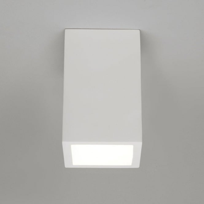 Astro Lighting Osca 200 Square Single Light Low Energy Ceramic Ceiling Fitting In White