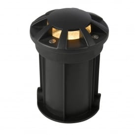 Pan Single Light Outdoor 8 - Way Recessed Ground Up-Light In Black Finish