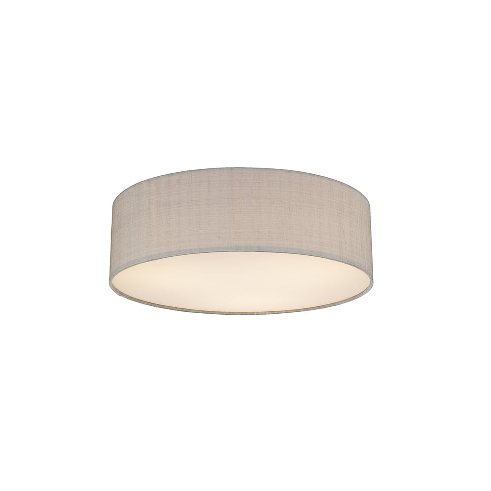 Paolo 3 Light Low Energy Flush Ceiling Fitting with a Silver Grey  sc 1 st  Castlegate Lights & Dar Silk Collection Paolo 3 Light Low Energy Flush Ceiling Fitting ... azcodes.com