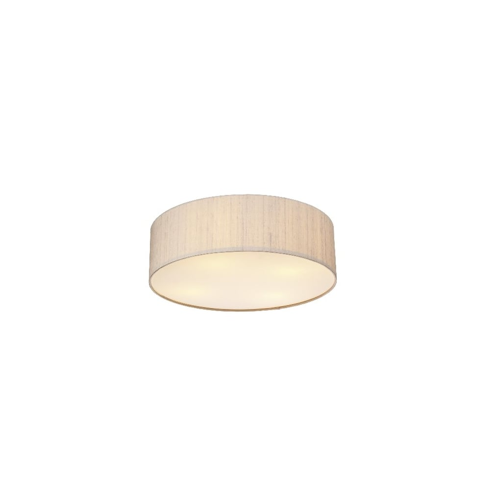 Paolo 3 Light Low Energy Flush Ceiling Fitting with Taupe Silk Shade  sc 1 st  Castlegate Lights & Dar Silk Collection Paolo 3 Light Low Energy Flush Ceiling Fitting ... azcodes.com