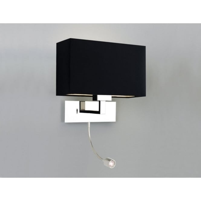 Astro Lighting Park Lane Grande LED Dual Light Switched Wall Fitting in Polished Nickel Finish