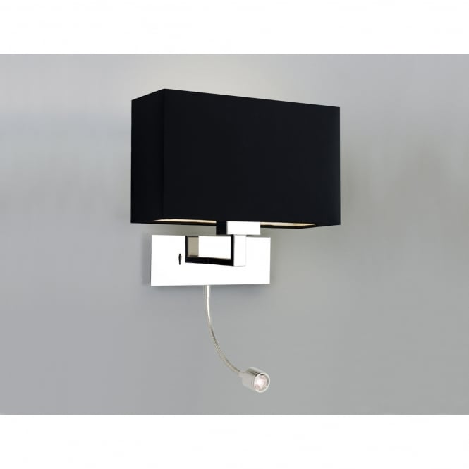 Astro Lighting Park Lane Grande Polished Chrome 2 Light Wall Fitting Only Complete with LED Reading Light