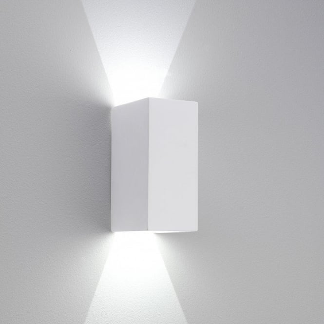 Astro Lighting Parma 160 LED 2 light Ceramic Wall Fitting In White Finish