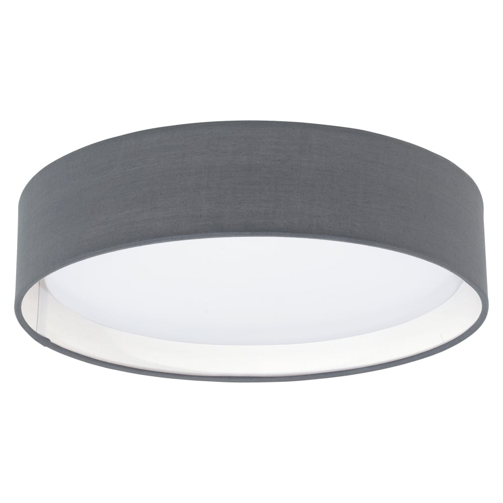 Eglo Lighting Pasteri Led Flush Ceiling Fitting With Grey