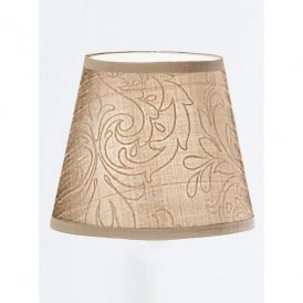 Patterned Beige Silk Candle Shade