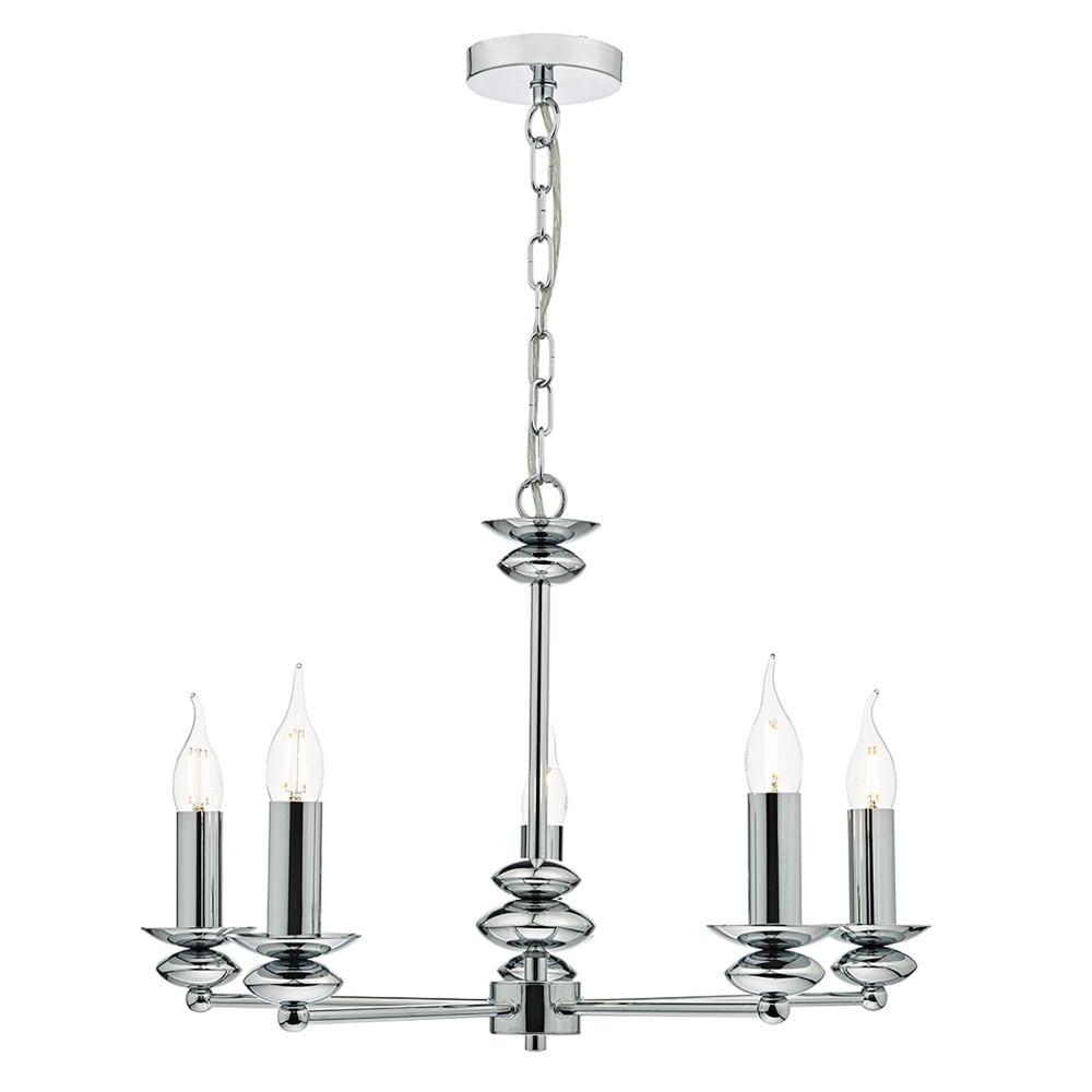 Ceiling Light 5 Arm Chrome : Dar lighting payton light multi arm ceiling pendant in
