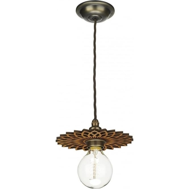 David Hunt Lighting Pegasus Easy Fit Small Shade in Wood
