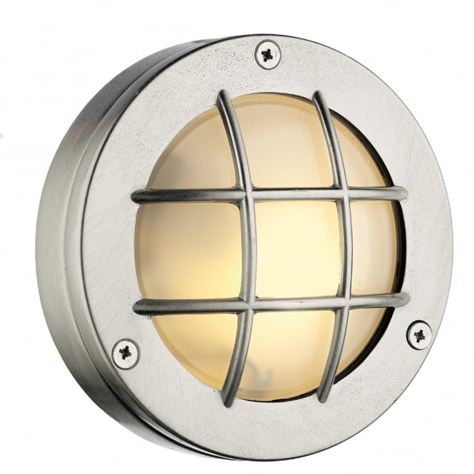 David Hunt Lighting Pembroke Single LED Outdoor Wall Fitting Made From Solid Brass in Nickel Finish