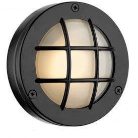 Pembroke Single LED Outdoor Wall Fitting Made From Solid Brass In Oxidised Finish