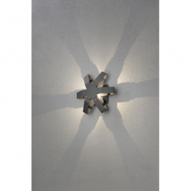 Pescara Single Light High Powered LED Wall Fitting in Painted Grey Aluminium Finish