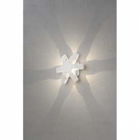 Pescara Single Light High Powered LED Wall Fitting in Painted White Aluminium Finish