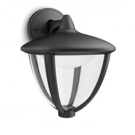 Robin Single Light LED Outdoor Wall Fitting In Black Finish