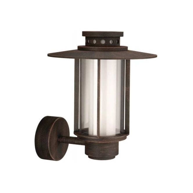 Rustic Brown Wall Lights : Philips Santiago Single Light Outdoor Aluminium Wall Lantern In Rustic Brown Finish - Lighting ...