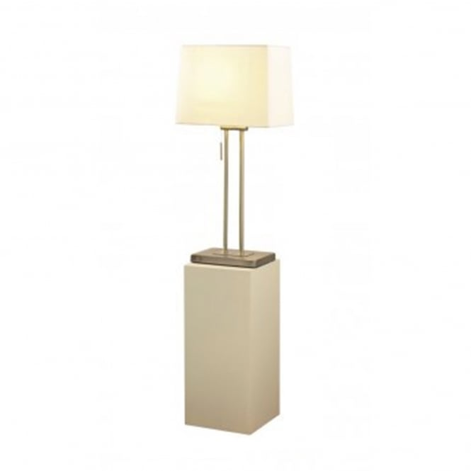 Dar Lighting Picasso Single Light Table Lamp In Antique Brass Finish With Cream Shade