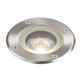Pillar Single Light Outdoor Walkover Light In Polished Stainless Steel Finish