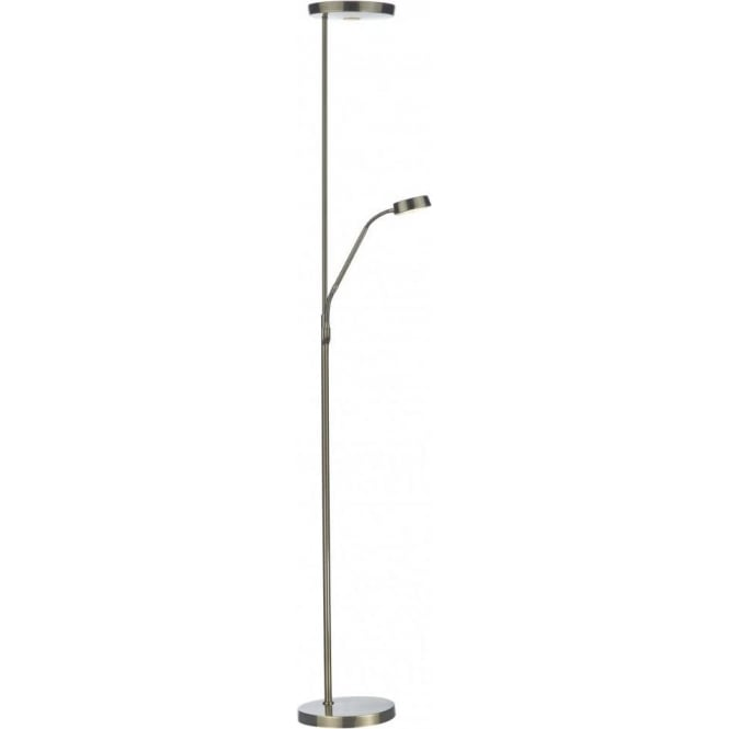 Dar lighting pioneer mother and child led floor lamp in antique pioneer mother and child led floor lamp in antique brass finish aloadofball Choice Image