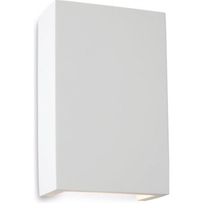 Wall Light Uplighter Downlighter : Firstlight Plaster Gallery Square 2 Light LED Wall Uplighter/Downlighter in White Plaster Finish ...
