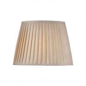 Pleated Taupe Coloured Faux Silk Shade