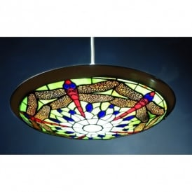 PM04UPL Green Dragonfly Ceiling Uplighter Shade