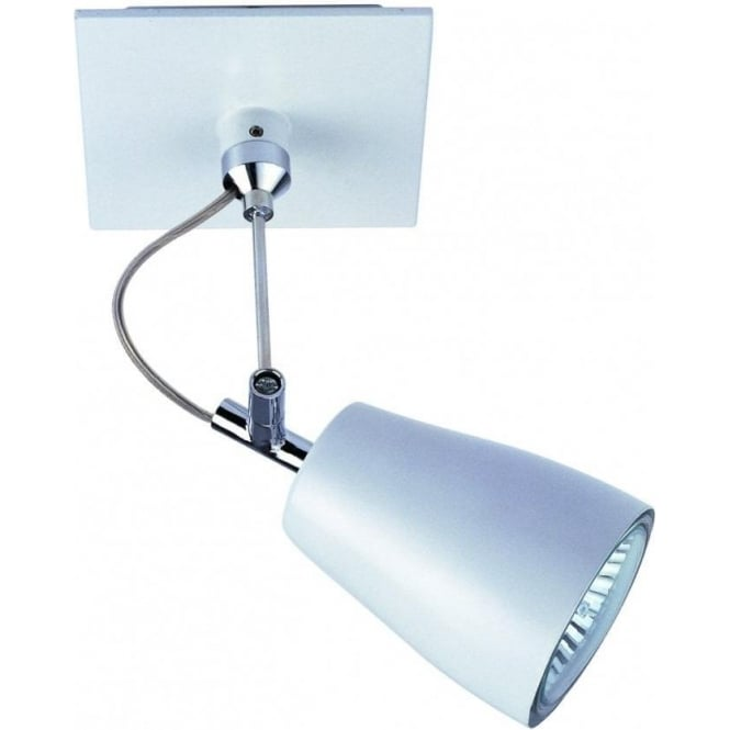 Astro Lighting Polar Single Light Halogen Spotlight in White Finish With Polished Chrome Detail